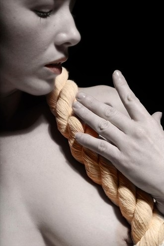 Profile and rope Artistic Nude Photo by Model Em Theresa