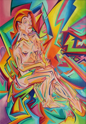 Pseudo Futurist Nude 3 Artistic Nude Artwork by Artist Andrew Chambers