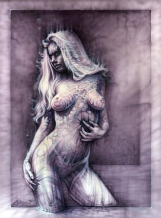 Purple Amber Artistic Nude Artwork by Artist David Bollt