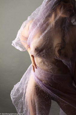 Purple Days Artistic Nude Photo by Model Charlotte Dell'Acqua