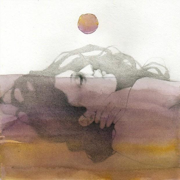 Purple Expressive Portrait Artwork by Artist Elia Fern%C3%A1ndez