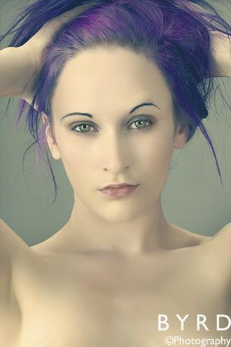 Purple Hair Portrait Photo by Model D%C3%A9irdre J