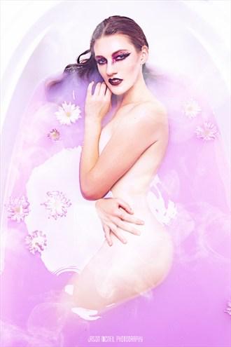 Purple Haze Artistic Nude Photo by Model Satine Lynn