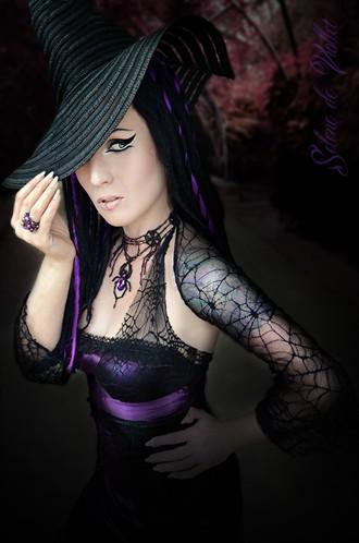 Purple Wicked Witch Tattoos Photo by Model Selene de Viollet