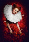 Queen of Hearts Fantasy Artwork by Artist ImaginaryRosse