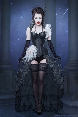Queen of the Night Lingerie Artwork by Model Morgana