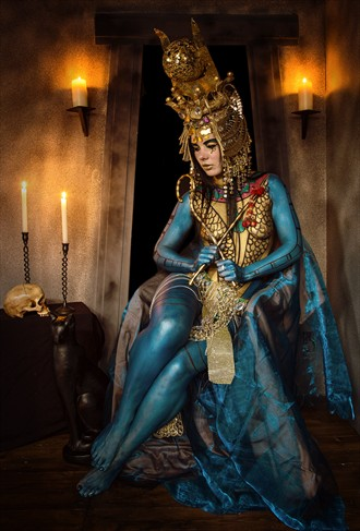 Queen of the Nile Body Painting Photo by Photographer Les Auld