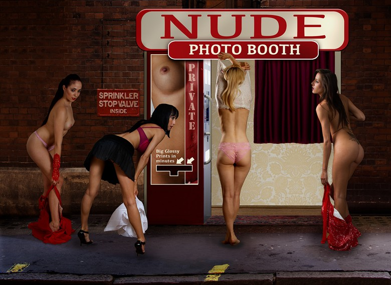 Queuing for the 'Nude' Photo Booth Artistic Nude Photo by Photographer FotoFaces