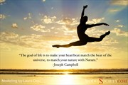 Quote about nature by Joseph Campbell with modeling by Laura Dasi Nature Photo by Administrator Model Society Admin
