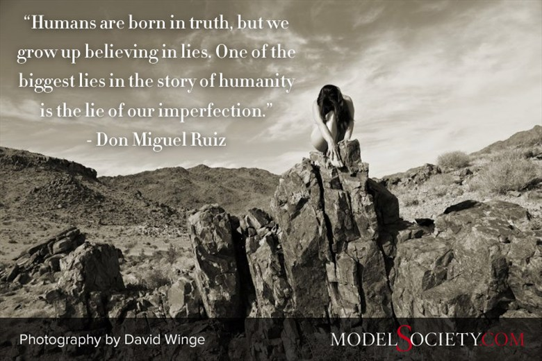 Quote by Don Miguel Ruiz with Art Model in Nature by David Winge Artistic Nude Photo by Administrator Model Society Admin