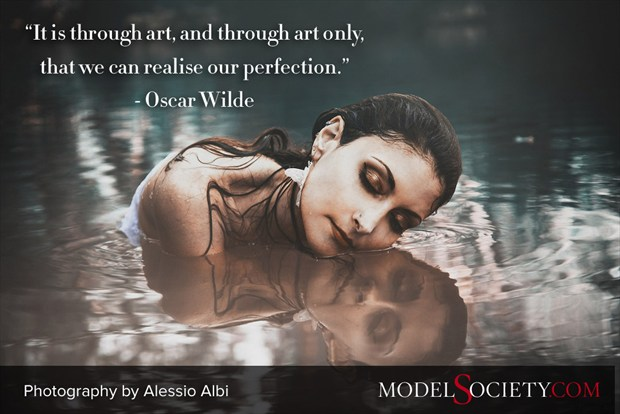 Quote by Oscar Wilde with Model Photography by Alessio Albi Nature Photo by Administrator Model Society Admin