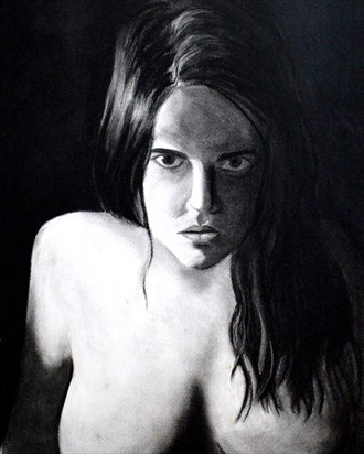 Rage Self Portrait Artwork by Artist Nadia Vanilla