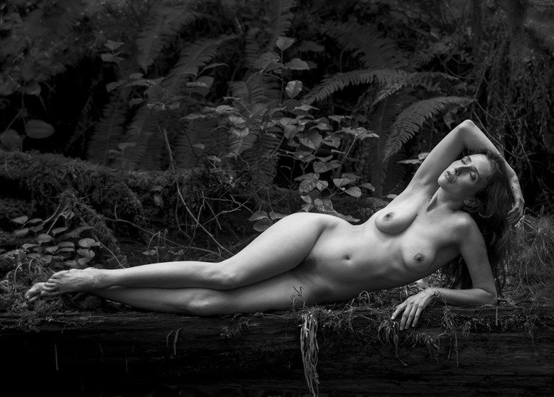 Rain Forest Nude Nature Photo by Photographer Eric Lowenberg