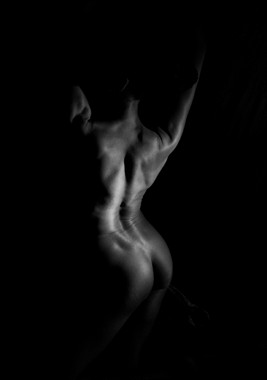 Rear View Artistic Nude Artwork by Model Crimson Reign
