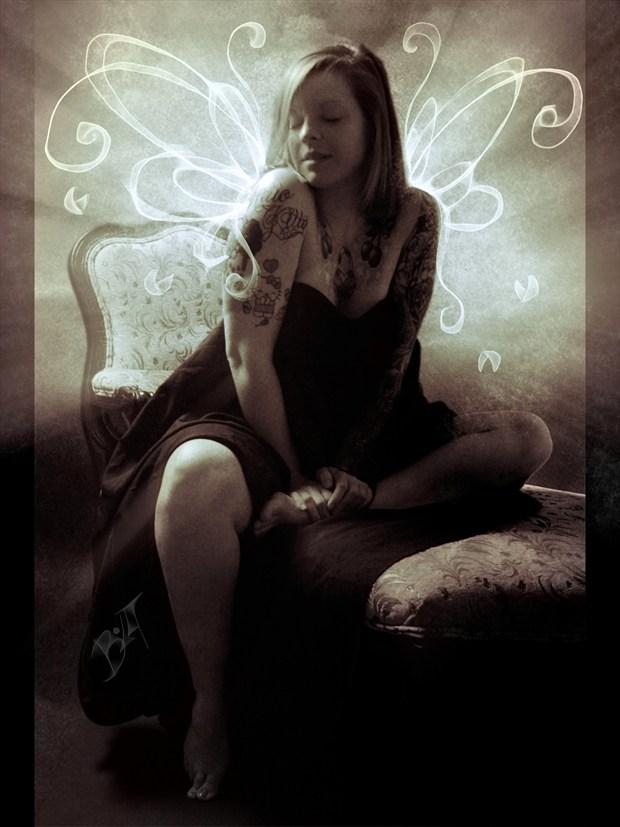 Rebe Fairy Vintage Style Photo by Artist David Bollt