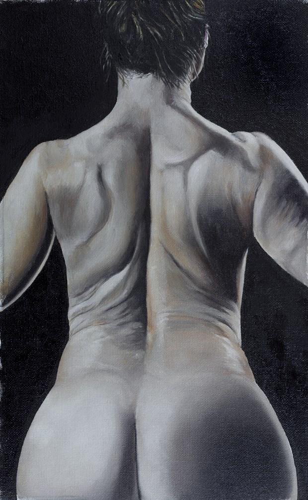 Rebecca No. 2  Artistic Nude Artwork by Artist Chuck Miller