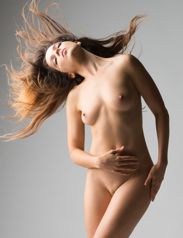 Rebel with flying hair Artistic Nude Photo by Photographer KHolmes