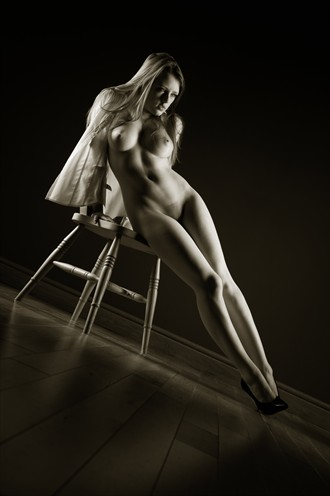 Reclined on the chair Artistic Nude Photo by Photographer John Tisbury