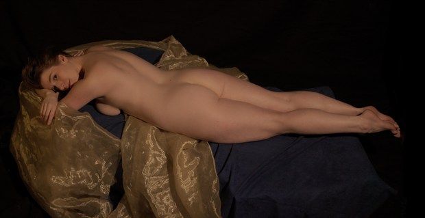 Reclining Elegance Artistic Nude Photo by Photographer Fred Scholpp Photo