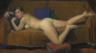 Reclining nude (C%C3%A9cile) Erotic Artwork by Artist Nicolas Granger Taylor