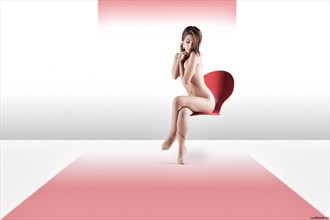Red Artistic Nude Artwork by Photographer LucaBphoto