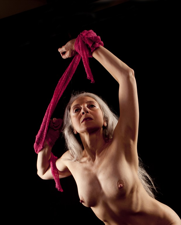 Red Artistic Nude Photo by Model AlexB
