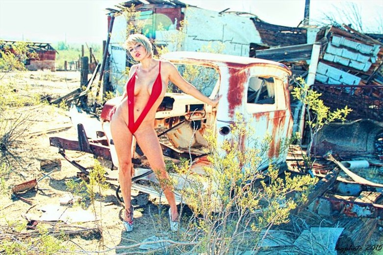 Red Bikini Photo by Photographer Barry Gallegos