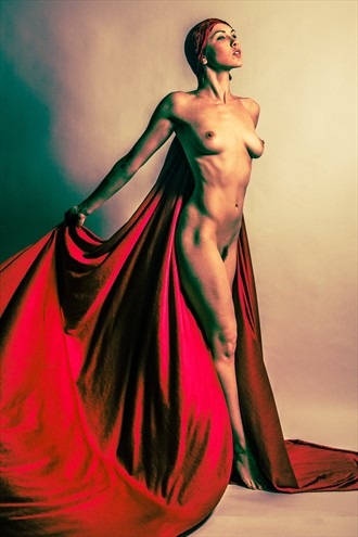 Red Cape Artistic Nude Photo by Photographer 3 Graces Photography