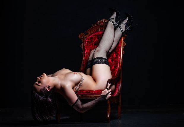 Red Chair Dairy Artistic Nude Photo by Photographer Dream Digital Photog
