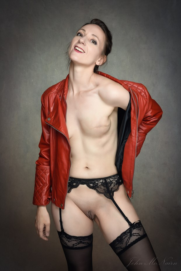 Red Leather Artistic Nude Photo by Photographer Rascallyfox