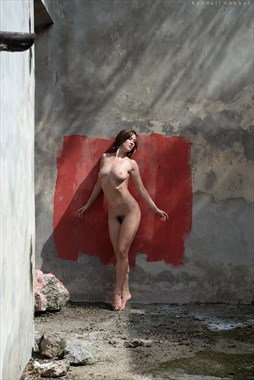 Red Square Artistic Nude Photo by Photographer Randall Hobbet