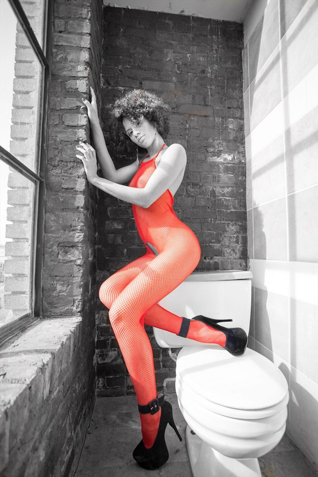Red Stockings Erotic Photo by Photographer Slight Of Hand Images