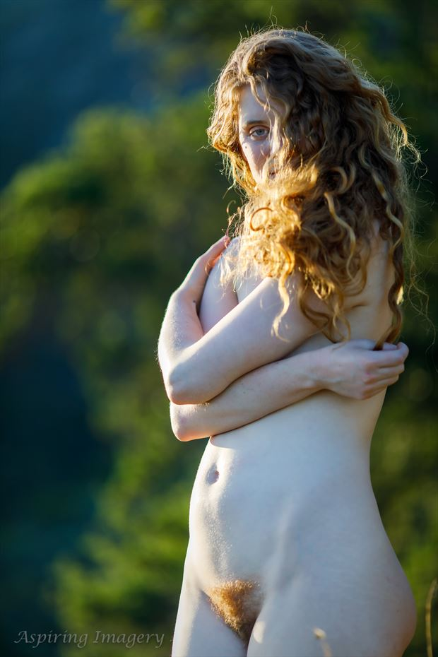 Red and Gold Artistic Nude Photo by Photographer Aspiring Imagery
