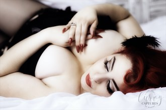 Red curves Lingerie Photo by Photographer MaddyLens Photography