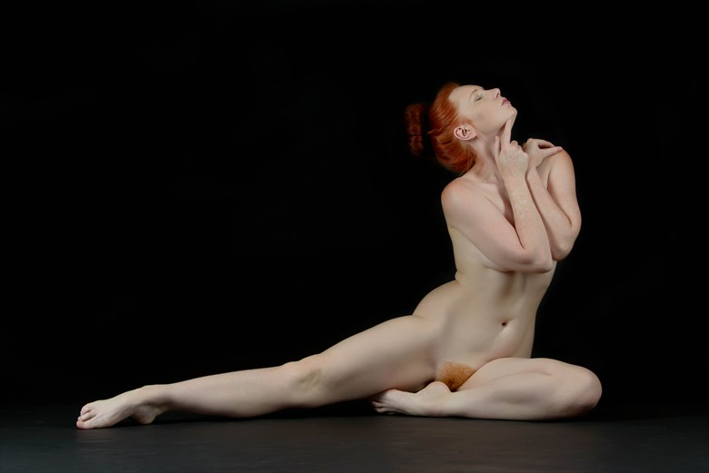 Red in the Studio Artistic Nude Photo by Photographer Rascallyfox