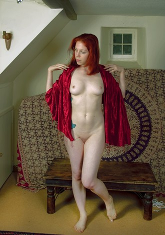 Red shawl Artistic Nude Photo by Photographer nickowen