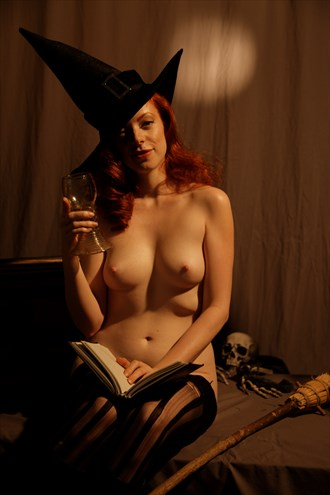 Redhead Witch, Halloween  Artistic Nude Photo by Photographer Fred Scholpp Photo