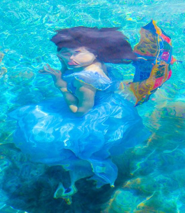 Reflections underwater Fantasy Artwork by Photographer TedGlen