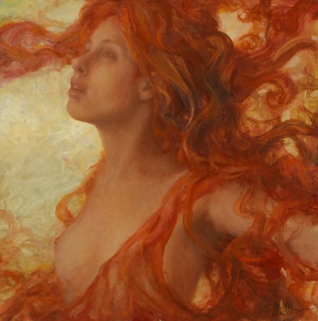 Releasing Orange Abstract Artwork by Artist Matthew Joseph Peak