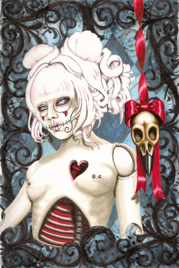 Reliquary Artistic Nude Artwork by Artist Shayne of the Dead