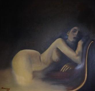 Reminiscing Body Painting Artwork by Artist Manolis Kastrinakis