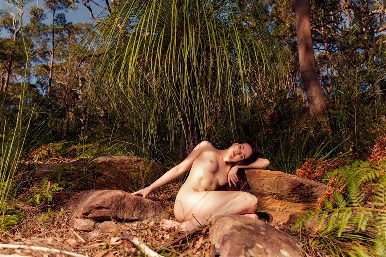 Resting Under a Tree Artistic Nude Photo by Photographer Stephen Wong