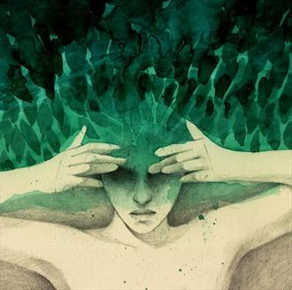Restless Expressive Portrait Artwork by Artist Elia Fern%C3%A1ndez