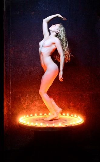 Ring of Fire Artistic Nude Photo by Model Manzanita