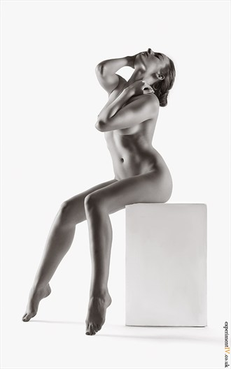 Rosa on the Posing Box Artistic Nude Photo by Photographer Terry King