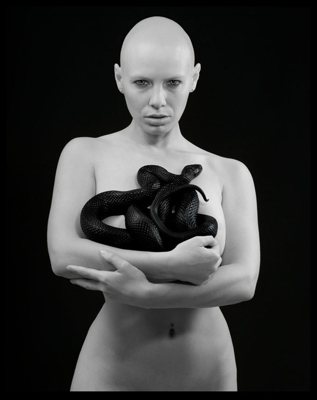 Rosie and the Black Snake Artistic Nude Photo by Photographer R. Michael Walker