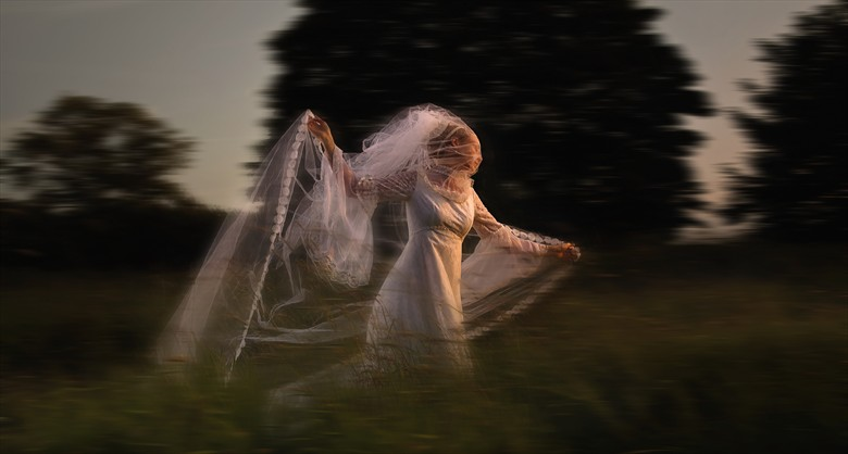 Running Bride Nature Photo by Photographer Anthony Higginson