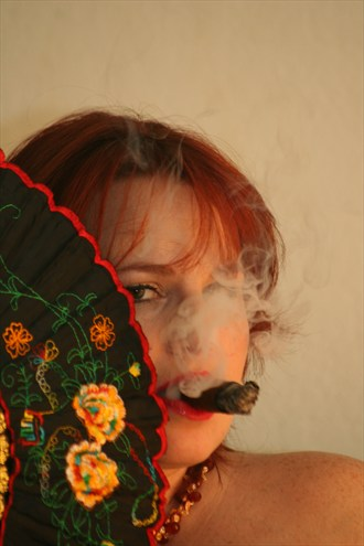 SHELLY  CIGAR & FAN Abstract Photo by Photographer ProducerInLA