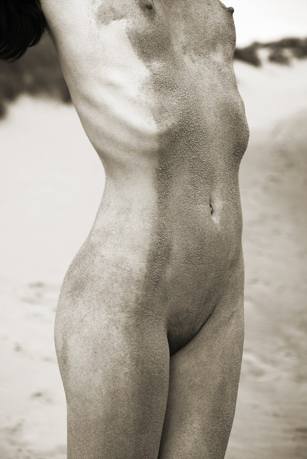 Sand painting Artistic Nude Photo by Photographer Roger Mann