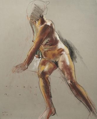 Sandra against the light Artistic Nude Artwork by Artist Ciaran Taylor